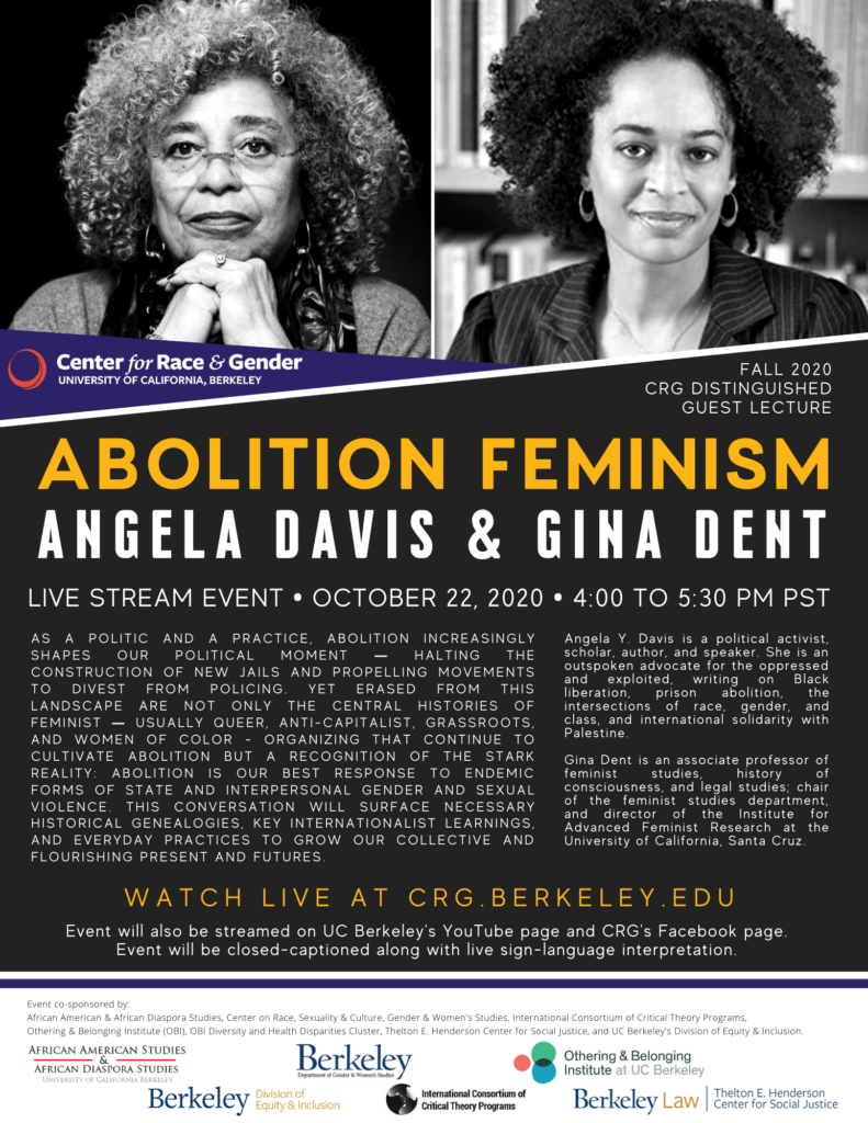 Fall 2020 CRG Distinguished Guest Lecture: Abolition Feminism