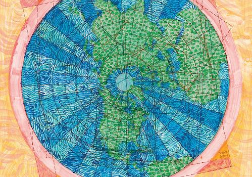"Joyce Kozloff print ""Clockwise: Whether Weather #1"""